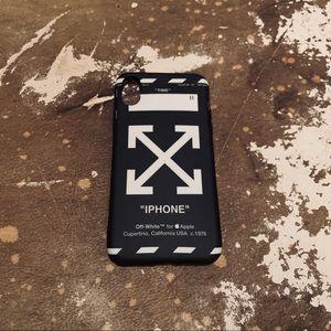 Off white Black Iphone Xs/X case
